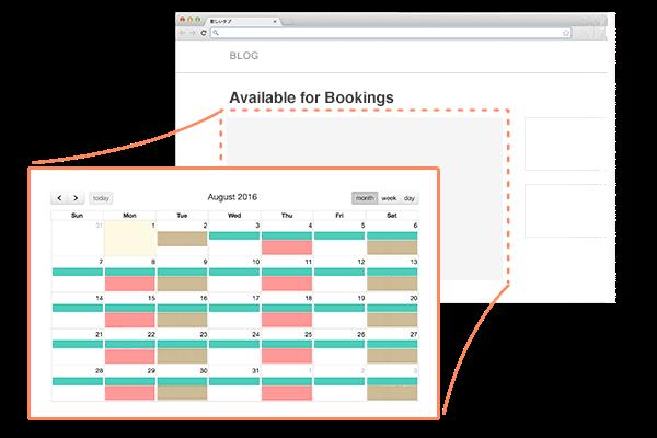 Booking calendar en